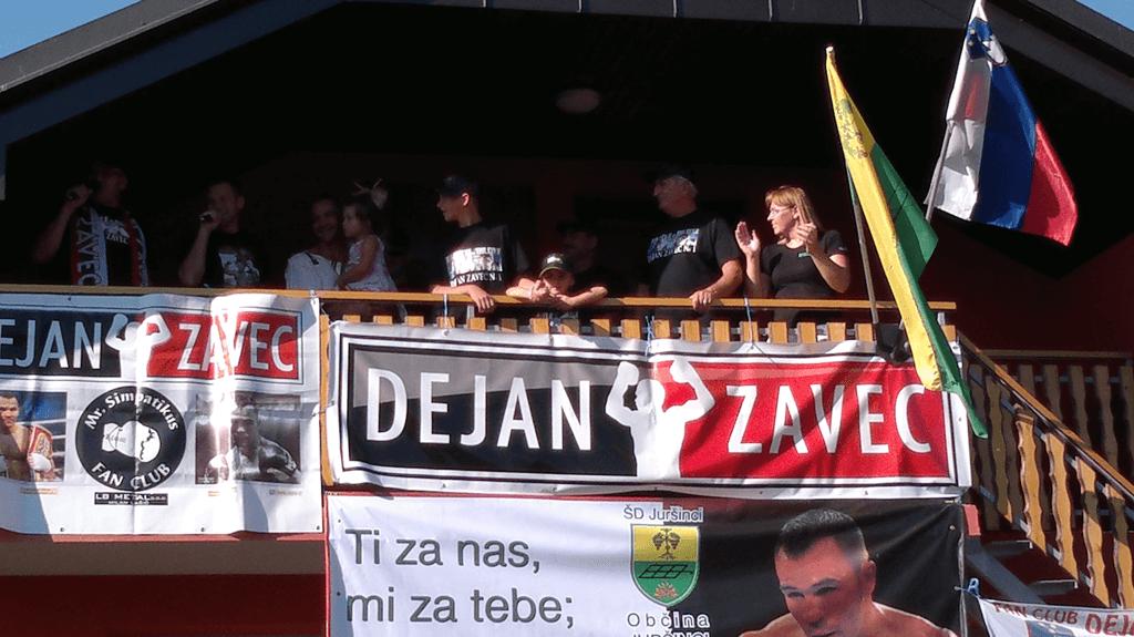 Sprejem domačina Dejana Zavca